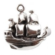Pirate Galleon 3D Sterling Silver Charm